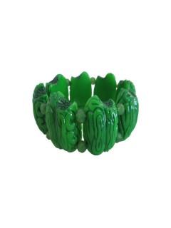 Kreepsville Gothic Armband Zombie-Hirne grün
