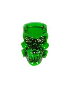 Kreepsville Gothic Brosche Monster Skull grün