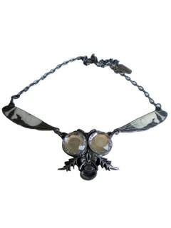 Kreepsville Gothic Halskette Fliege silber
