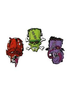 Kreepsville Monster-Aufnäher-Set Toxic Toons 3-teilig bunt