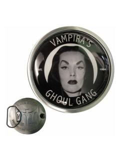 Kreepsville Gothic Gürtelschnalle Vampira schwarz-silber