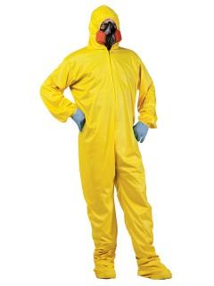 Biohazard Schutzanzug Halloween-Kostüm gelb