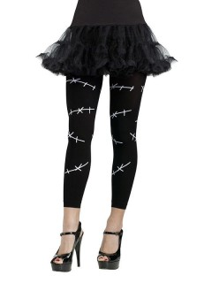 Monsterbraut Halloween-Leggings Nähte schwarz-weiss
