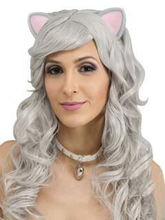 Maus Fantasy-Perücke mit Ohren grau