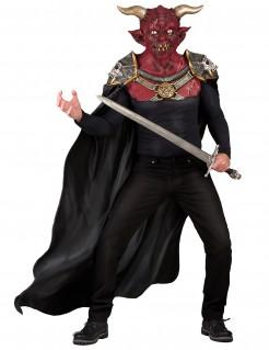 Dämonen-Kostüm Teufelsverkleidung für Halloween rot-schwarz
