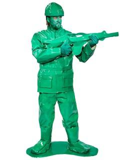 Spielzeug Soldat Krieger Kostüm grün (Bundle)