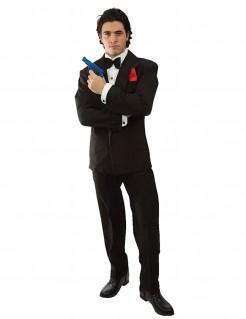 Geheimagent Spion Kostüm Anzug schwarz-weiss
