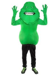Schleimiger Geist Monster Kostüm grün-weiss