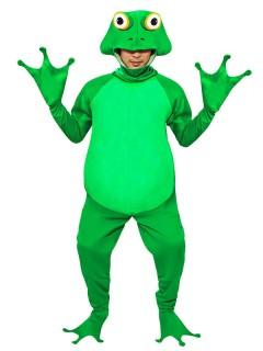 Lustiger Frosch Overall Kostüm grün