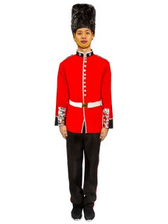 Palastwache Soldat Kostüm schwarz-rot-weiss