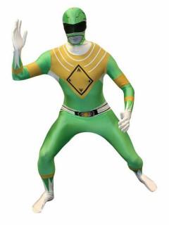 Power Rangers Morphsuit Lizenzware grün-weiss-gold