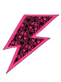 Kreepsville Gothic Aufnäher Patch Blitz pink