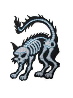 Kreepsville Gothic Aufnäher Patch Katze schwarz-weiss