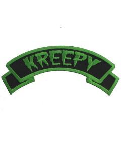 Kreepsville Gothic Aufnäher Patch Kreepy schwarz-grün