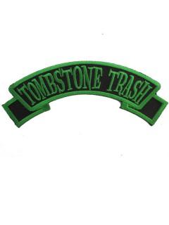 Kreepsville Gothic Aufnäher Patch Tombstone Trash schwarz-grün