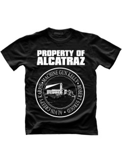 Alcatraz Prison Wear Property Of Alcatraz T-Shirt schwarz-weiss