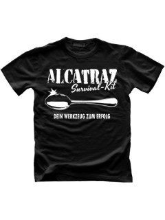 Alcatraz Prison Wear Survival Kit Fun-Shirt schwarz-weiss