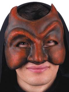 Teufel Dämon Maskierter Halbmaske rot-grau