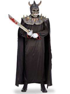 Todeswächter Wikinger Kostümset Umhang mit Maske schwarz-grau