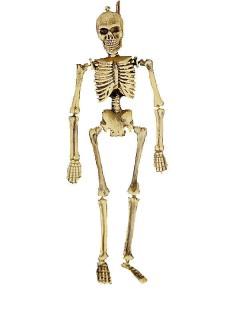 Erhängtes Skelett Halloween Dekofigur braun-grau 40cm