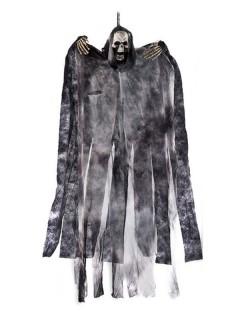 Gruselfigur Halloween-Hängedeko Skelett Tod schwarz-grau 60cm