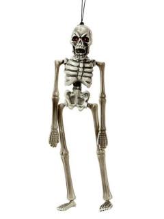 Hängedeko Fieses Skelett Halloween Party-Deko weiss 11x40cm