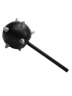 Morgenstern Hammer Halloween-Waffe schwarz-silber 49cm