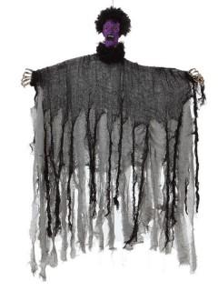 Zombie Halloween-Hängedeko Untoter grau-lila 90cm