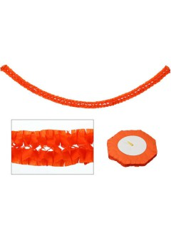 Papier-Girlande Party-Deko orange 270x15cm