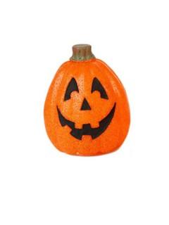 Leuchtender Kürbis Halloween Party-Deko lachend orange-grün 23x17cm