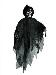 Hängedeko Totenkopf Tod Skull Halloween Party-Deko schwarz-weiss 90x70cm