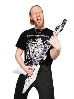 Aufblasbare Gitarre V-Form weiss-schwarz 100cm