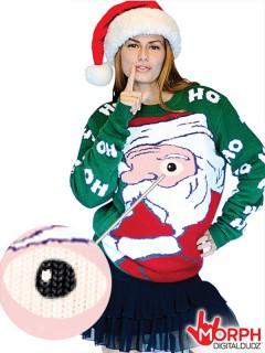 Digital Dudz Christmas Weihnachtsmann Pullover Weihnachten bunt