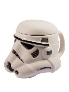 Star Wars™ Stormtrooper 3D-Tasse mit Deckel weiss-schwarz