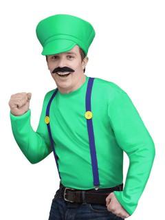 Retro Videospiel Kostüm-Set Klempner grün