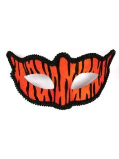 Venezianische Augenmaske Tiger braun-schwarz