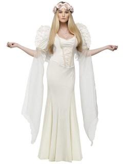 Eleganter Engel Damenkostüm Weihnachten elfenbein
