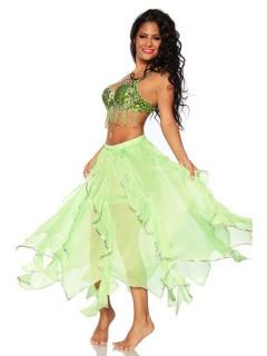 Sexy Bauchtänzerin Damenkostüm Orient grün
