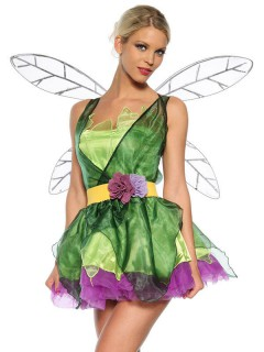Süsse Fee Elfe Damenkostüm Märchen grün-lila