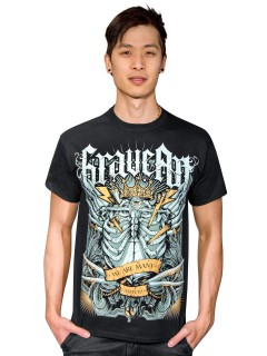 GraveArt  We are many  T-Shirt schwarz-bunt