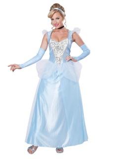 Märchen-Prinzessin Damenkostüm hellblau-weiss