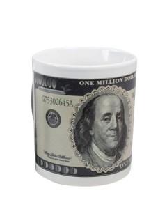Thermoeffekt-Tasse Dollar-Note schwarz-weiss 300ml