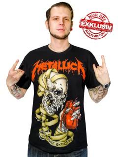 Metallica-Fanshirt Heart Explosive Metal-Shirt Limited Edition schwarz-rot-gelb