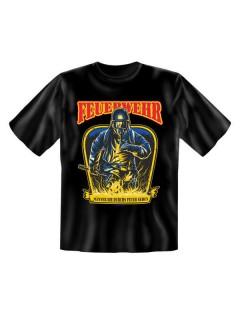Funshirt Männer Feuer T-Shirt schwarz-gelb-rot
