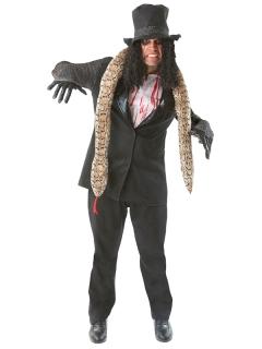 Grusel-Rocker Schlangenmann Halloween-Kostüm schwarz-weiss-beige