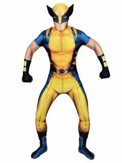 Marvel Wolverine Morphsuit Lizenzware blau-gelb-schwarz