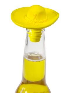 Sombrero Flaschen-Aufsatz Verschluss gelb 6x9cm