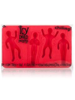 Dead People Eiswürfelform Leiche Party-Gadget rot 15x8x2cm