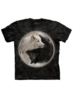The Mountain Yin Yang Wolves T-Shirt schwarz-weiss