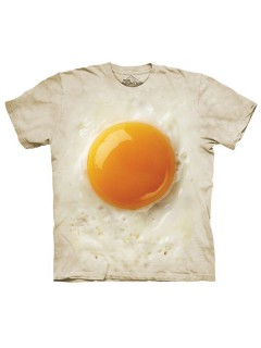 The Mountain Fried Egg T-Shirt weiss-gelb